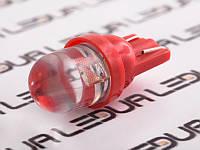 Світлодіодна авто лампа T10-1pc-круглий червоний LED 24V