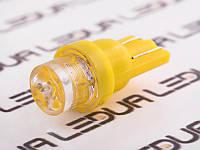 Світлодіодна авто лампа T10-1pc-увігнутий LED жовтий 24V