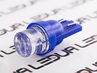Світлодіодна авто лампа T10-1pc-увігнутий синій LED 24V