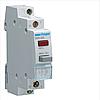 Вимикач кнопковий зворотній з червоним індикатором 230В/16А, 2НВ, 1м SVN432