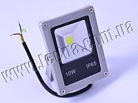 Прожектор світлодіодний 10W slim, тепло білий