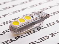 Світлодіодна авто лампа T10-5050-6smd силікон білий 24V