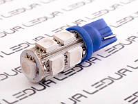 Світлодіодна авто лампа T10-5050-9smd синій 12V