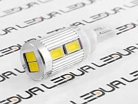 Світлодіодна авто лампа T10-5630-10smd з радіатором 12V білий