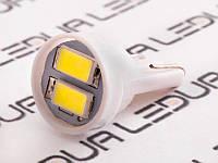Світлодіодна авто лампа T10-5630-2smd 12V білий