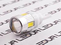 Світлодіодна авто лампа T10-5630-6smd з лінзою білий 24V
