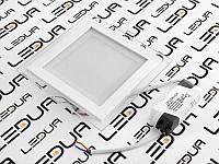 Світильник світлодіодний Світильник врізний квадратний SMD24/012/003S cw,ww,w 12W(скло)
