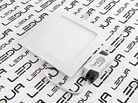 Світильник світлодіодний Світильник врізний квадратний SMD60/012/005S ww/nw/cw 12w