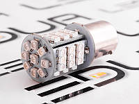 Світлодіодна авто лампа T25-1206-45SMD 1156 жовтий 12V