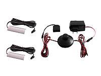 Комплект світильників світлодіодних з ножним вимикачем накладних для підсвітки меблевих полиць 2шт 220V синє