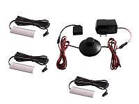 Комплект світильників світлодіодних з ножним вимикачем накладних для підсвітки меблевих полиць 3шт 220V біле