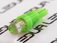 Світлодіодна авто лампа T5-1pc-круглий зелений LED 12V