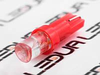 Світлодіодна авто лампа T5-1pc-увігнутий червоний LED 12V