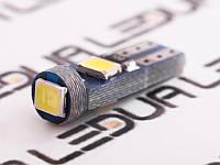 Світлодіодна авто лампа T5-2835-3smd 12V білий