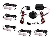 Комплект світильників світлодіодних з ножним вимикачем накладних для підсвітки меблевих полиць 5шт 220V біле