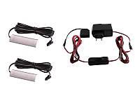 Комплект світильників світлодіодних з ручним вимикачем накладних для підсвітки меблевих полиць 2шт 220V синє