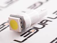 Світлодіодна авто лампа T5-5050-1smd 12V білий