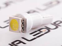 Світлодіодна авто лампа T5-5050-1smd білий 24V