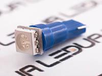 Світлодіодна авто лампа T5-5050-1smd синій 24V