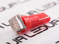 Світлодіодна авто лампа T5-5050-1smd червоний 24V