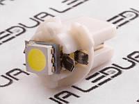Світлодіодна авто лампа T5-B8.3-1smd-5050 LED 12V білий