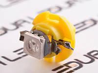 Світлодіодна авто лампа T5-B8.4-1smd-5050 жовтий 24V