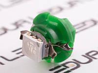 Світлодіодна авто лампа T5-B8.4-1smd-5050 зелений 24V