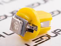 Світлодіодна авто лампа T5-B8.5-1smd-5050 жовтий 24V