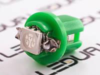 Світлодіодна авто лампа T5-B8.5-1smd-5050 зелений 24V