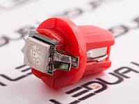 Світлодіодна авто лампа T5-B8.5-1smd-5050 червоний 24V