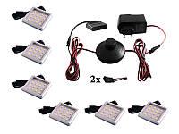 Комплект світлодіодних світильників квадратних для меблів 6шт 12W 220V біле світло