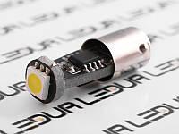 Світлодіодна авто лампа BA9S-5050-1smd обманка білий