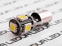 Світлодіодна авто лампа BA9S-5050-5smd обманка білий