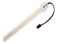 Світлодіодна лінійка 2835-72led IP44 6W 6000K 220V 300мм прозора