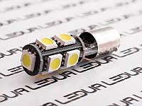 Світлодіодна авто лампа BA9S-5050-9smd обманка білий 12V