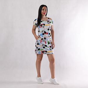 Женское платье с принтом Микки Маус 44-54 р