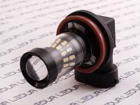 Світлодіодна авто лампа H11-3014-24SMD+4LG обманка білий 12V