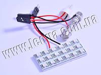 Світлодіодна авто лампа PCB 18smd 3528 синій 12V
