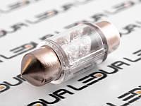 Світлодіодна авто лампа S10-31mm-4pcs круглий LED білий 12V