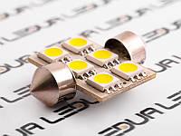 Світлодіодна авто лампа S85-31mm-6smd 5050 12V білий