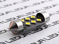 Світлодіодна авто лампа S85-36mm-6smd 3030 обманка білий 12V