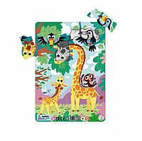 """Дитячий пазл в рамці """"Жираф"""" DoDo R300223, 21 деталь"""