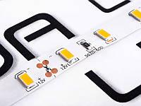 Світлодіодна стрічка 5630-60led-10mm-12V, IP20 25-30lm тепло білий