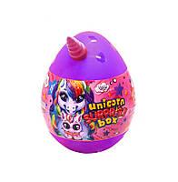 Игрушка-сюрприз «Unicorn Surprise Box» набор для творчества в яйце Фиолетовый (USB-01-01U(V)