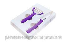 Набор ножей кухонных 2 шт. керамический MUSE фиолетовый