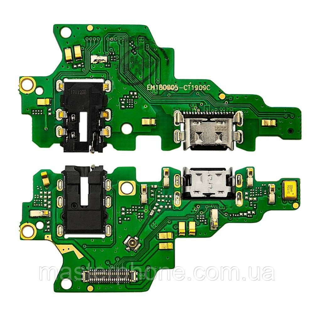 Роз'єм зарядки для HUAWEI Honor Play на платі з мікрофоном і компонентами