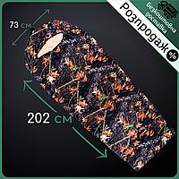 Распродажа! Спальный мешок-одеялоGREEN CAMP Спальник-кокон 202 х 73 см Хаки-камуфляж(VP482300)