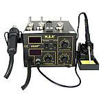 Паяльна станція WEP 852D+ компресорна, фен, паяльник