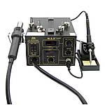 Паяльна станція WEP 952D+ компресорна, фен, паяльник