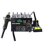Паяльна станція BAKU BK852D компресорна, фен з цифровою індикацією, паяльник, аналогова регулювання t